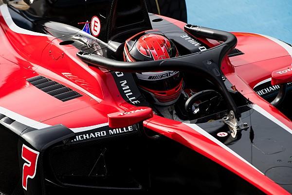 FIA F2 Nieuws In beeld: Formule 2-coureurs maken kennis met halo tijdens test Magny-Cours
