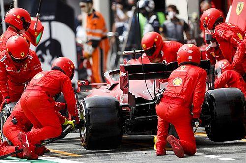 Sainz, parte activa del plan de Ferrari ante el problema de neumáticos