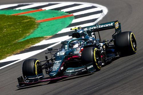 """Vettel: """"AMR21'de iyi bir ilerleme kaydediyoruz"""""""