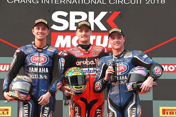 Davies gana por delante las Yamaha y Rea ya es líder