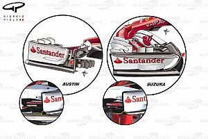 Formel 1 Analyse F1-Technik: Ferrari-Updates am Auto von Vettel beim GP USA 2017