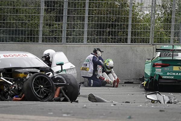 Фото: авария Паффета и Роккенфеллера на «Норисринге»