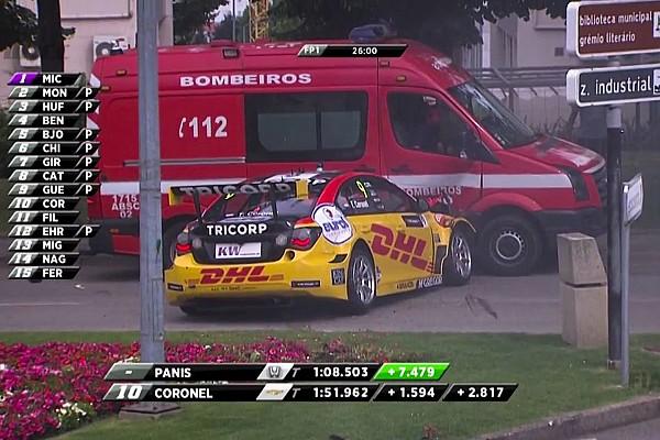 FIA onderzoekt circuit Vila Real na crash Coronel tegen brandweerwagen