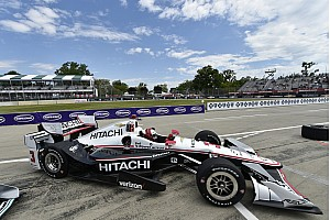 IndyCar Practice report Detroit IndyCar: Castroneves fastest in FP2 as Rossi shunts