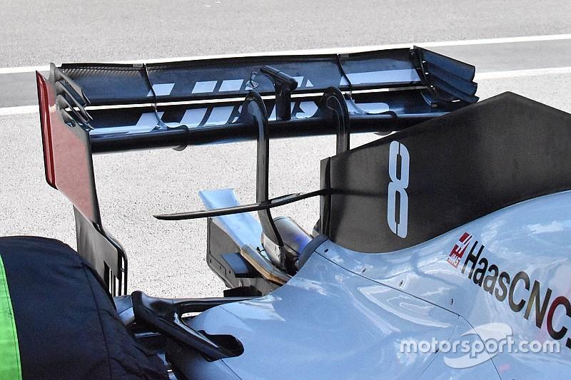 Haas: ecco l'ala posteriore a