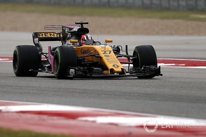Hulkenberg también penaliza y Renault prueba partes de 2018