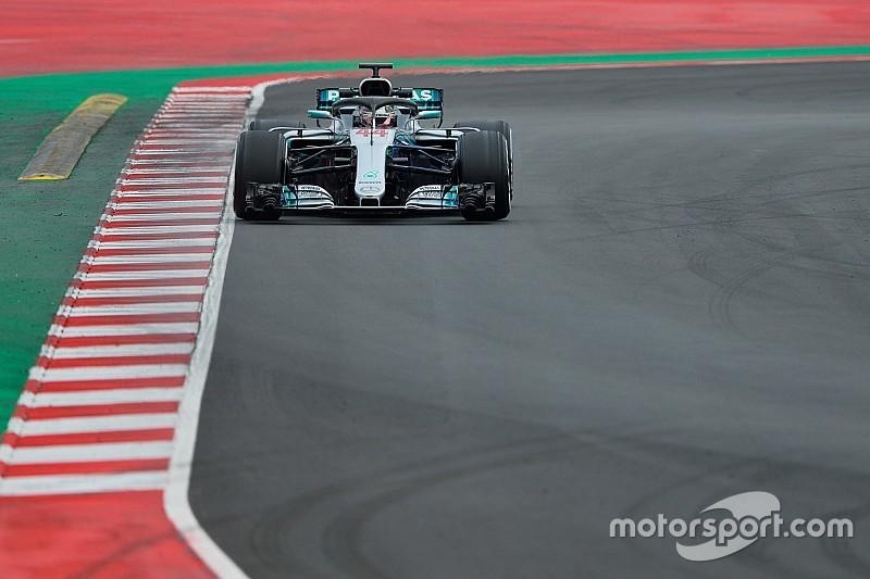 A Hamilton no le convenció el reasfaltado de Barcelona