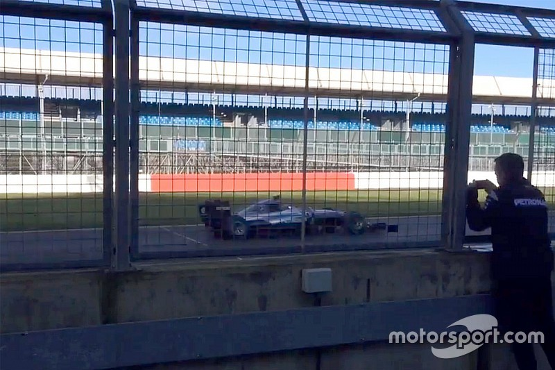 New Mercedes F1 car gets first run at Silverstone