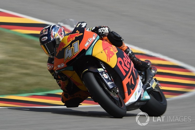 Sachsenring Moto2: Binder holds off Mir for first win