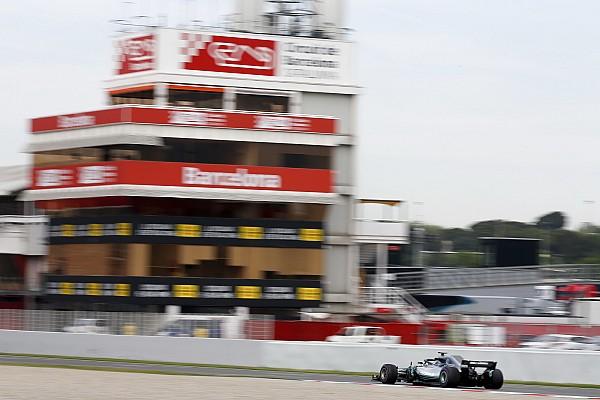 Bottas pone a Mercedes al frente en la segunda mañana de test en Barcelona