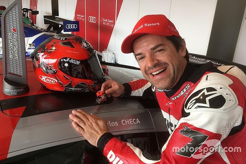 Carlos Checa due volte a podio con l'Audi R8 al Nürburgring
