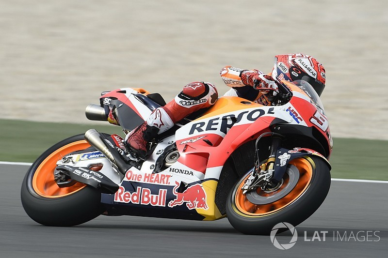 Qatar Motogp Marquez Leads Dovizioso In Warm Up