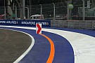 F1 in Singapur: Zeitverlust bei Abkürzen der Strecke in Kurve 2
