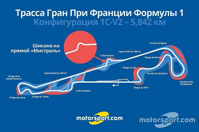 Стала известна конфигурация трассы Гран При Франции