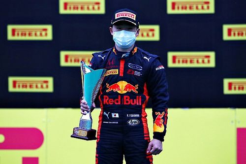 無線トラブルに泣くも、2位表彰台。角田裕毅「最後は自分の速さを信じてプッシュした」