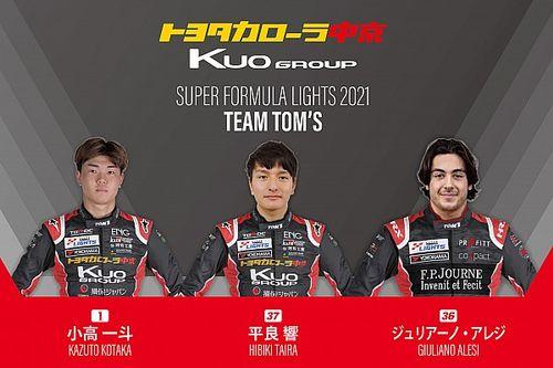 Alesi named in three-car TOM'S Super Formula Lights squad