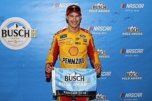 Joey Logano beats Harvick and Almirola for Kansas pole