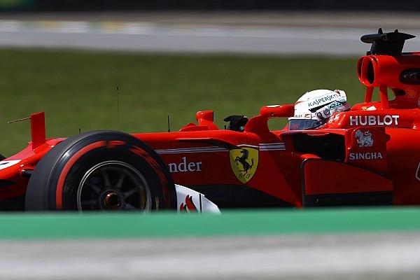 Vettel probó piezas para el Ferrari 2018