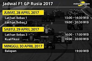 Formula 1 Special feature Jadwal lengkap F1 GP Rusia 2017