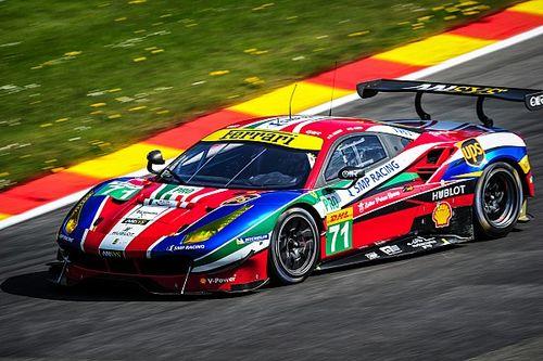 Ferrari 488 GTE monopolises the front row at Spa
