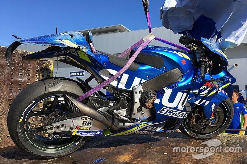 Новий гонщик Suzuki Мір зазнав першої аварії у MotoGP