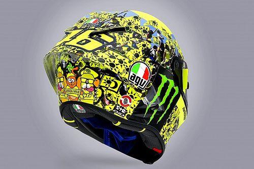 Helm Spesial Valentino Rossi untuk Home Race Terakhir di Misano