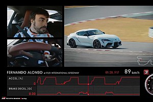 Fernando Alonso yeni Toyota Supra'yı asfalta çıkardı