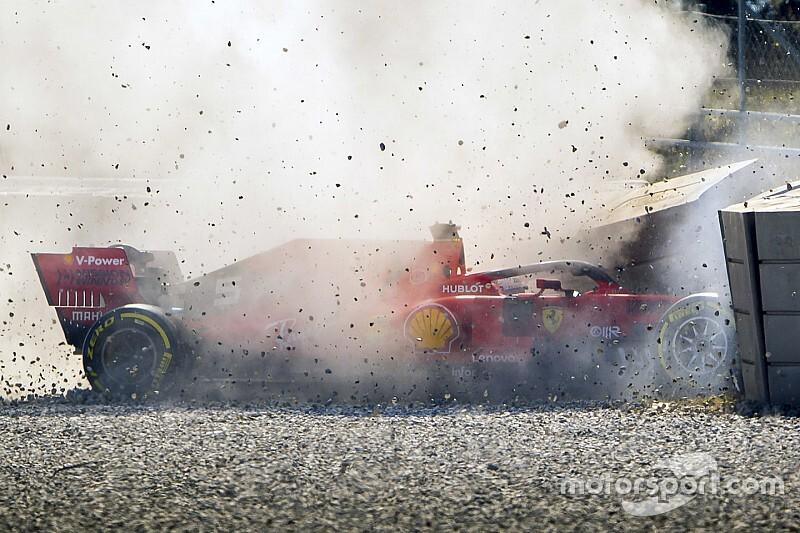 Vettel's F1 test crash caused by wheel rim issue
