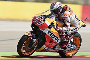 MotoGP Relato da corrida Em corrida nervosa, Márquez triunfa em Aragón; Rossi é 5º