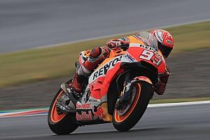 MotoGP Ultime notizie Termas, Warm-Up: Marquez sfodera un gran passo sul bagnato
