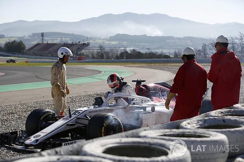 Leclerc, kaza nedeniyle hayal kırıklığı yaşıyor