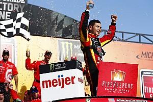 NASCAR Cup Отчет о гонке Ларсон победил в гонке NASCAR в Мичигане