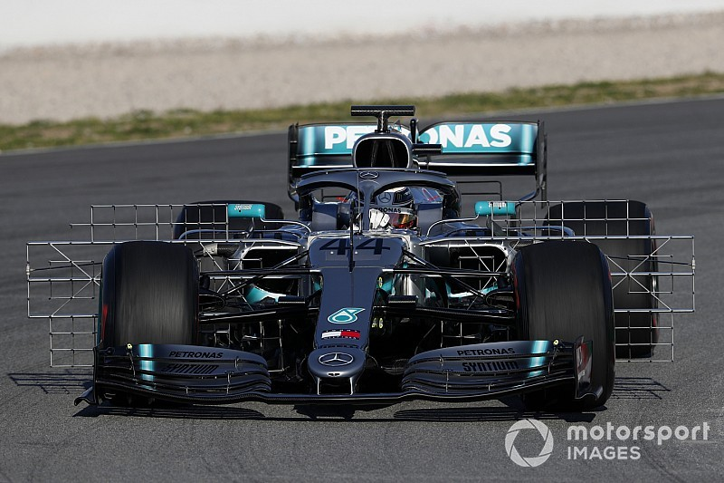 Mercedes introduces revised aero package in testing