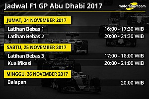 Formula 1 Preview Jadwal lengkap F1 GP Abu Dhabi 2017