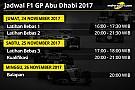 Formula 1 Jadwal lengkap F1 GP Abu Dhabi 2017