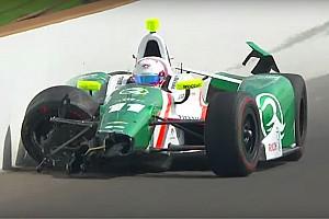 IndyCar Важливі новини Інді-500: Пігот потрапив у аварію у п'ятий день тренувань (відео)