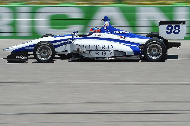 Pole de Colton Herta en la Serie Indy Lights