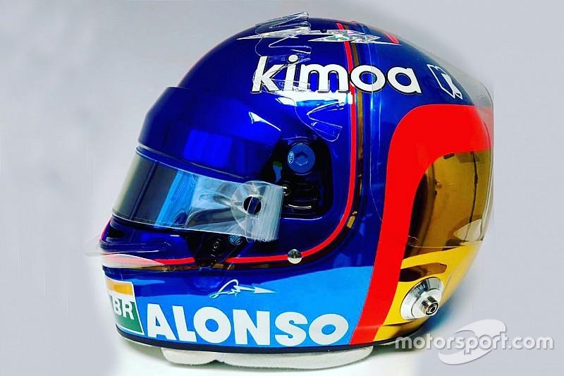 """""""とりあえず最後""""のF1レースに挑むアロンソ。特別仕様のヘルメットを用意"""