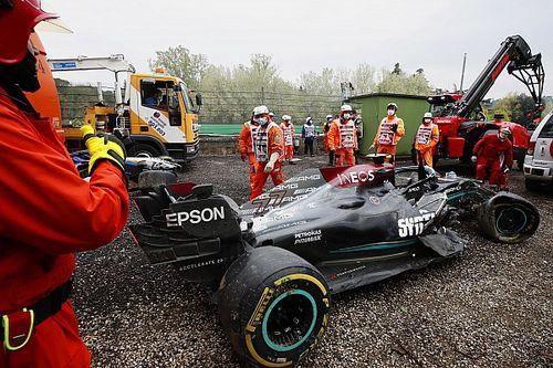 F1: Bottas terá novo chassi em Portugal após acidente em Ímola