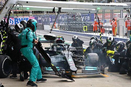 F1: Parada de Bottas ajudou Hamilton a colocar intermediários no GP da Rússia