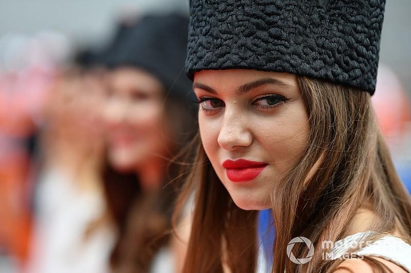 Képgaléria az Orosz Nagydíj gyönyörű rajtrácslányairól
