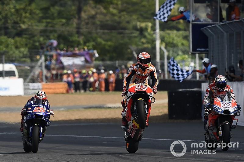 Fotogallery: Marquez batte Dovizioso e conquista la vittoria a Buriram