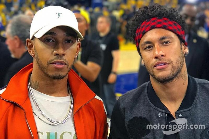 Lewis Hamilton asiste a la final de NBA con Neymar
