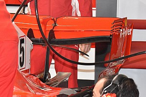 Ferrari: confermata l'ala posteriore a cucchiaio della SF71H