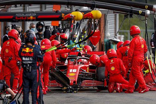 Ferrari explains Leclerc's pneumatic dramas at Spa