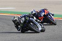 """Viñales en difficulté en Aragón: """"C'était très dur de rester sur la moto"""""""