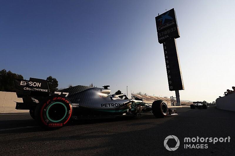 Mercedes W10, mely Hamilton hatodik világbajnoki címét jelentheti