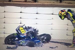MotoGP Ultime notizie Grande paura per Valentino: cade e distrugge la sua M1