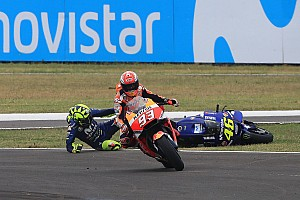 MotoGP Breaking news Marquez: Attempt at passing Rossi was nothing