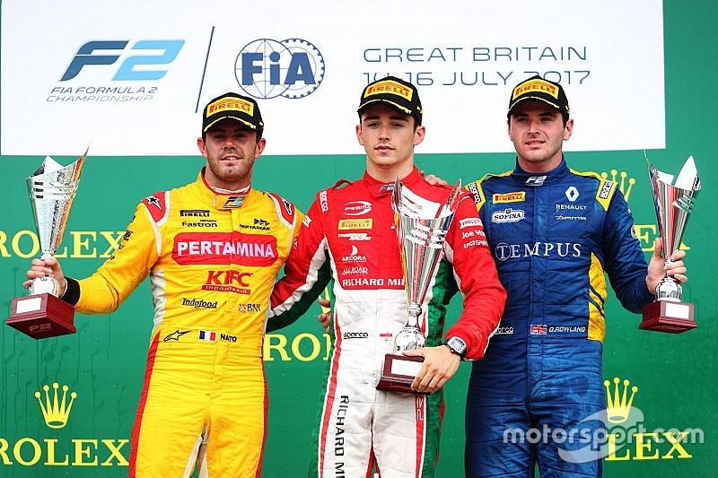 F2 Sliverstone: Leclerc juara lagi di Feature Race, Gelael kesembilan